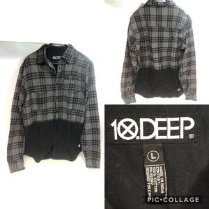 10 Deep plaid shirt Men's Large
